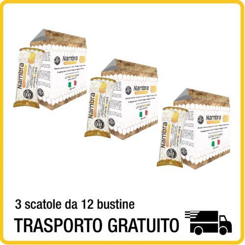 3 scatole Nambra da 12 bustine - integratore energetico naturale