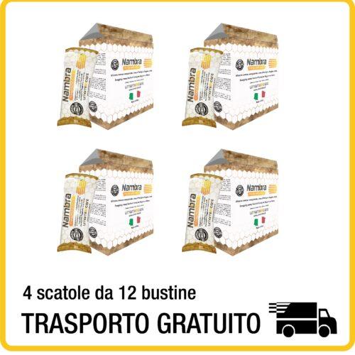 4 scatole Nambra da 12 bustine - integratore energetico naturale